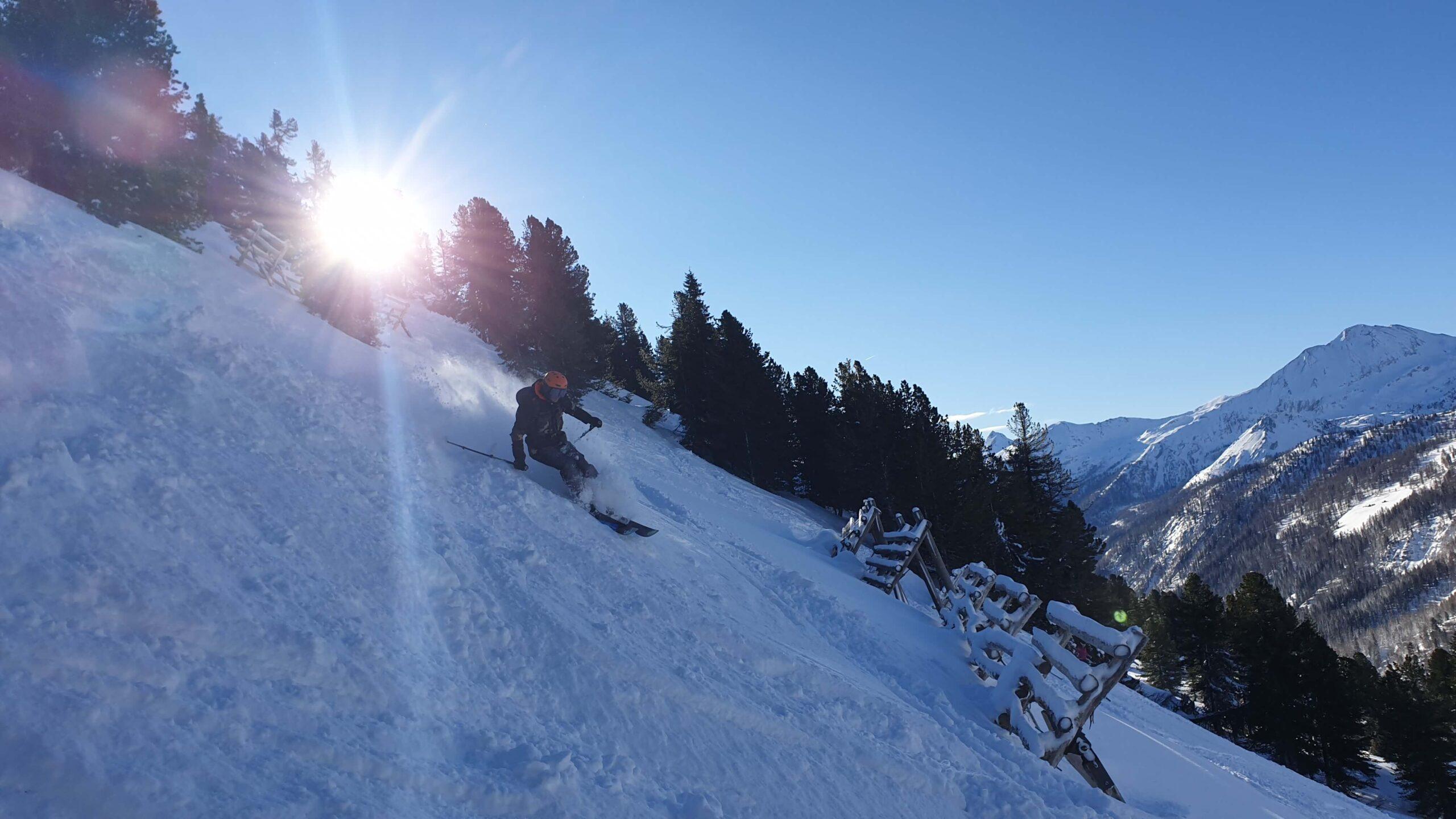 Freeride undeva in Austria.