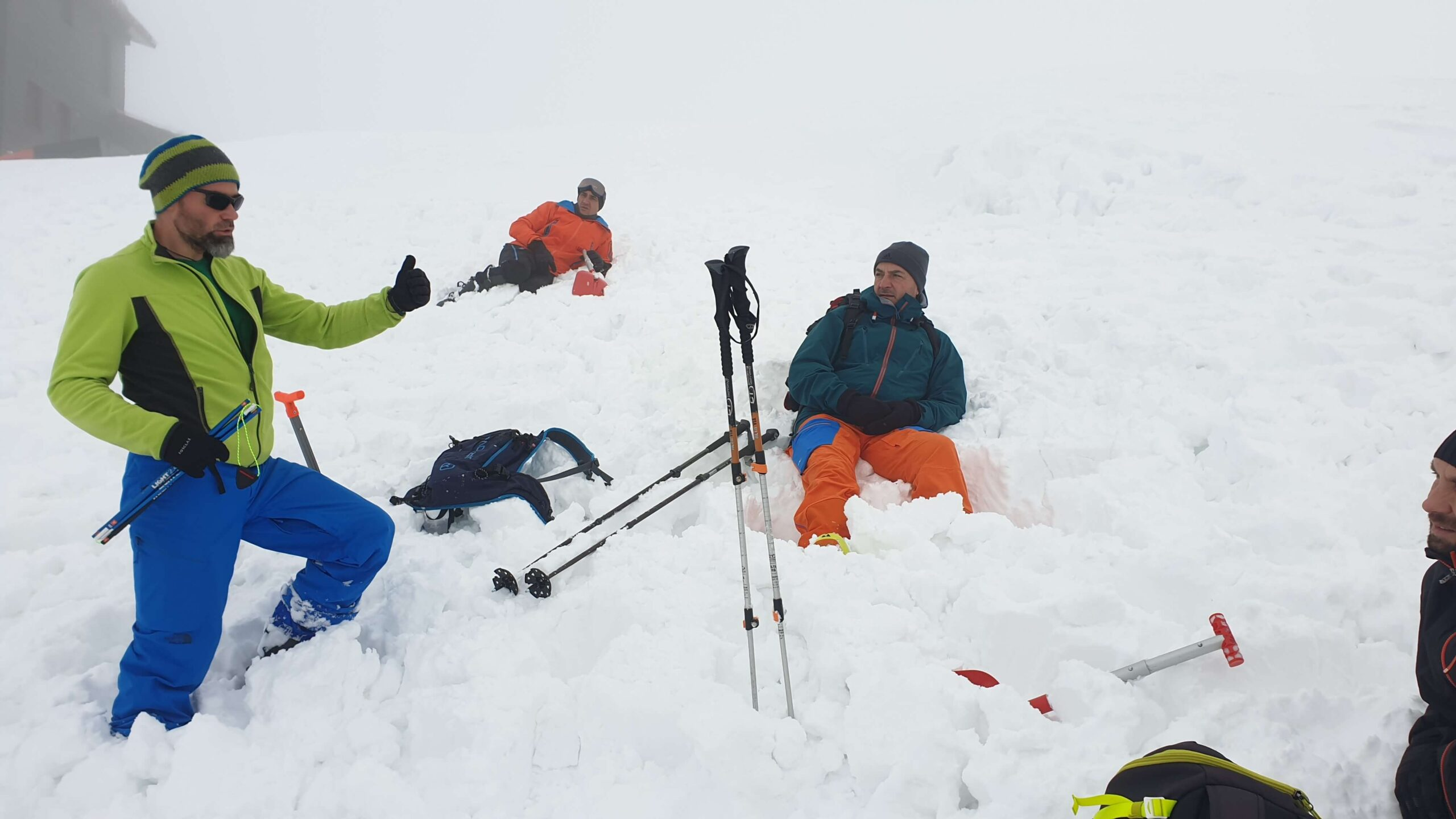 Workshop salvare in avalansa, Balea Lac.